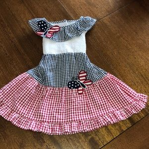 Gingham Red White and Blue dress